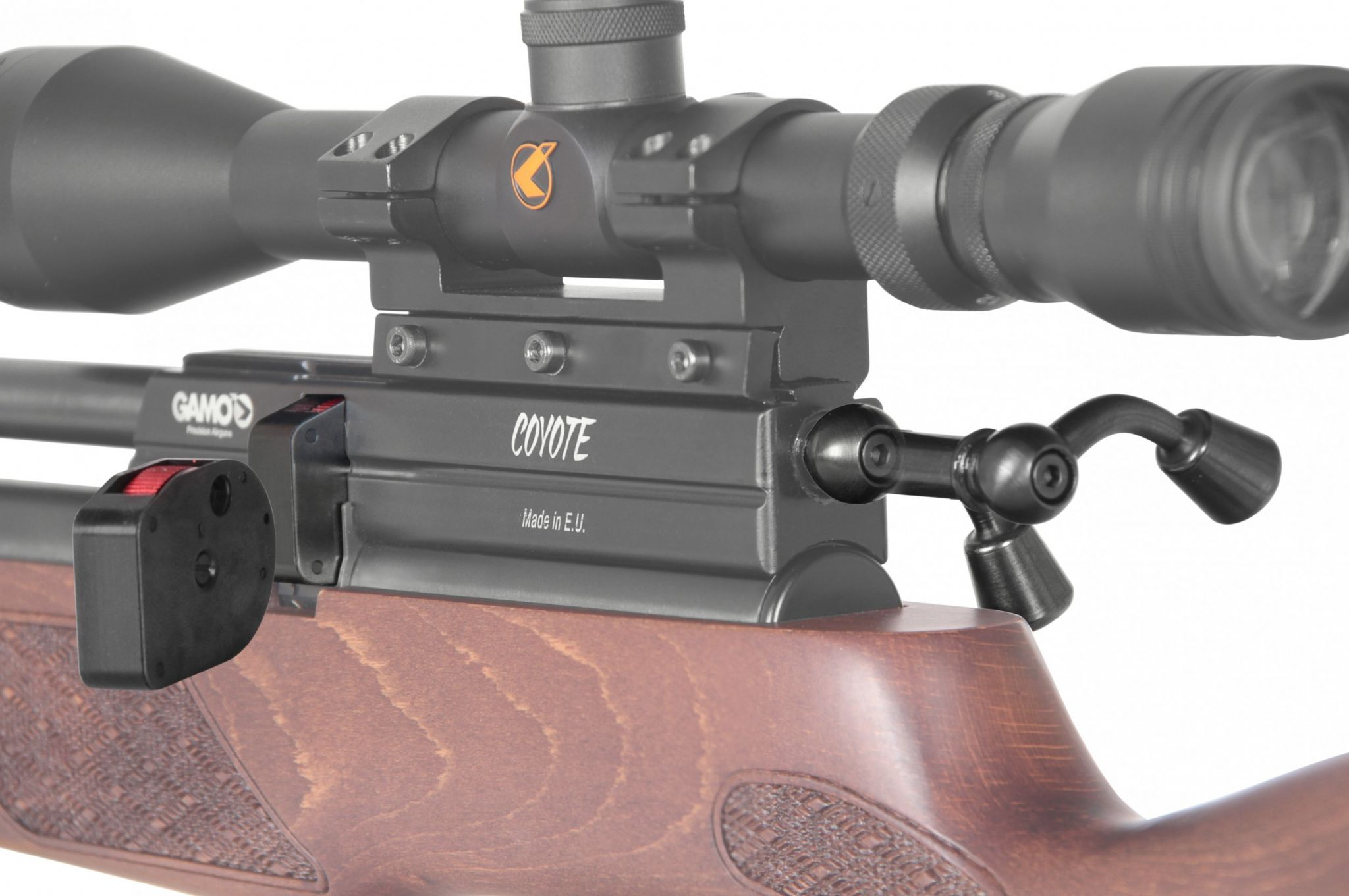 Gamo Coyote PCP Precharged Air Rifle Silencer Scope Bag Pack - Beech